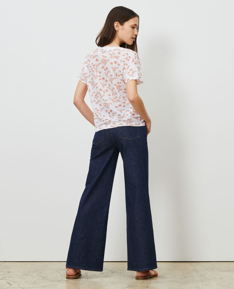 Linen V-neck t-shirt Coronille optical Nayeli