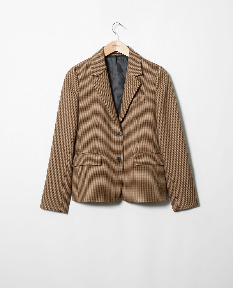 Suit-style jacket Houndtooth Jicro