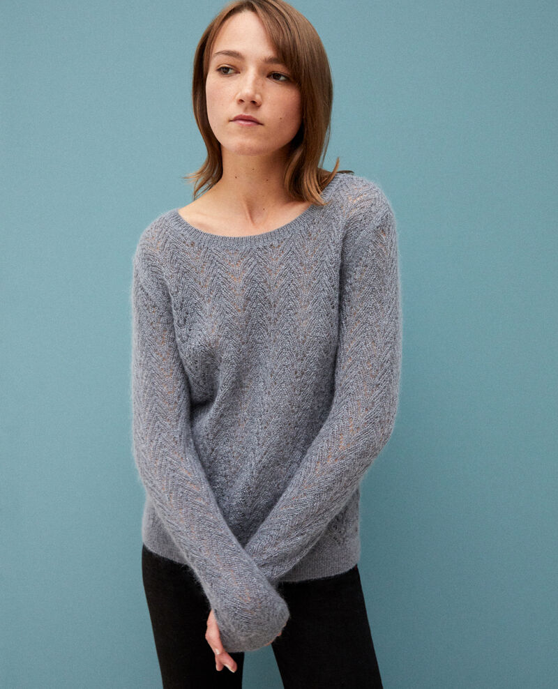 Jumper with mohair and lurex Quiet shade Gigogne