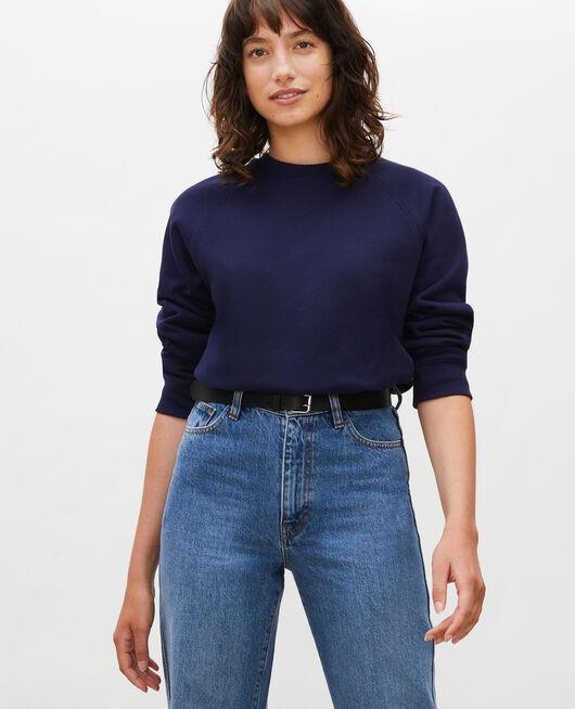 Fleece sweatshirt MARITIME BLUE