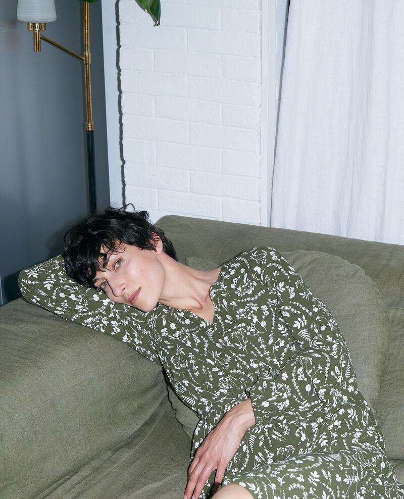 Printed maxi dress Cyanotype olive Pavish