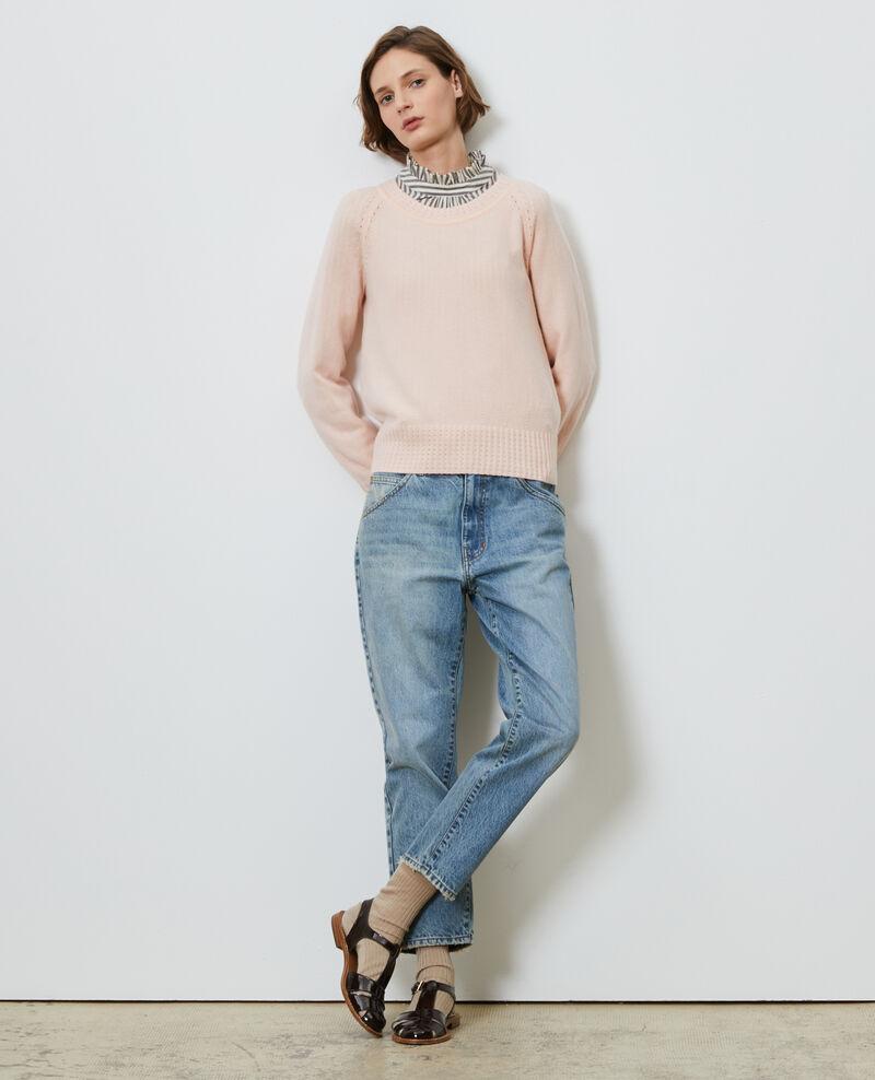 Round-neck cashmere jumper Seashell pink Nogna