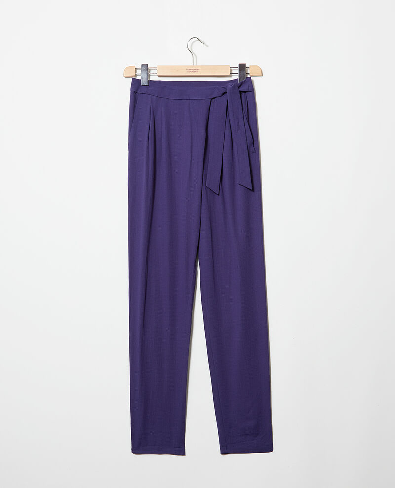 Harem-style pants  Ink navy Inoise