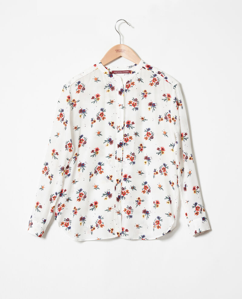 Mandarin collar blouse Bouquet coconut milk Jiplui