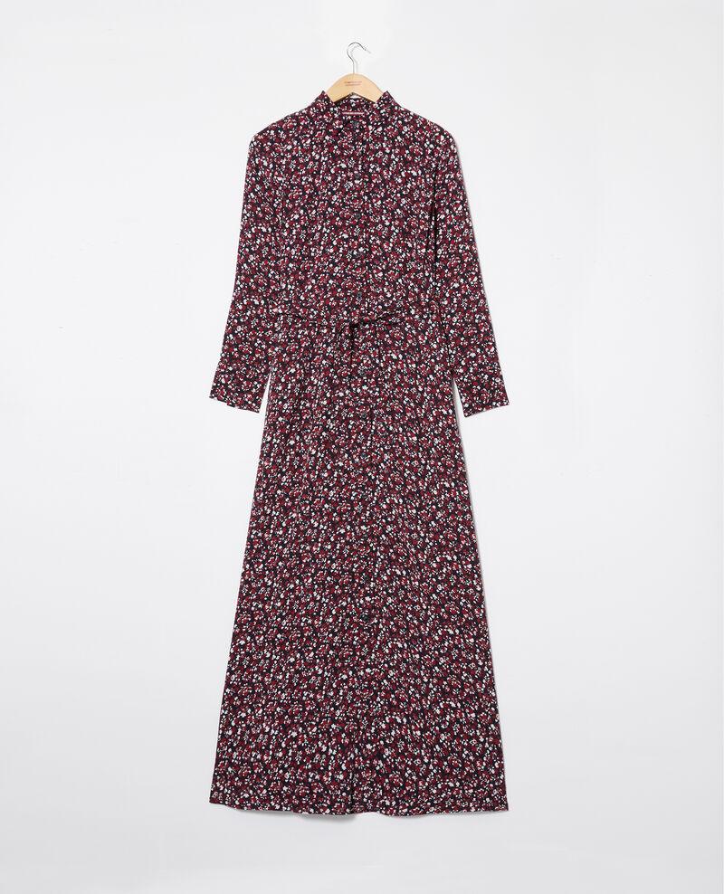 Long printed dress Nf noir Jalaskaia