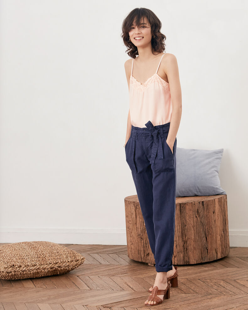 Belted chino trousers  Marine Faaron