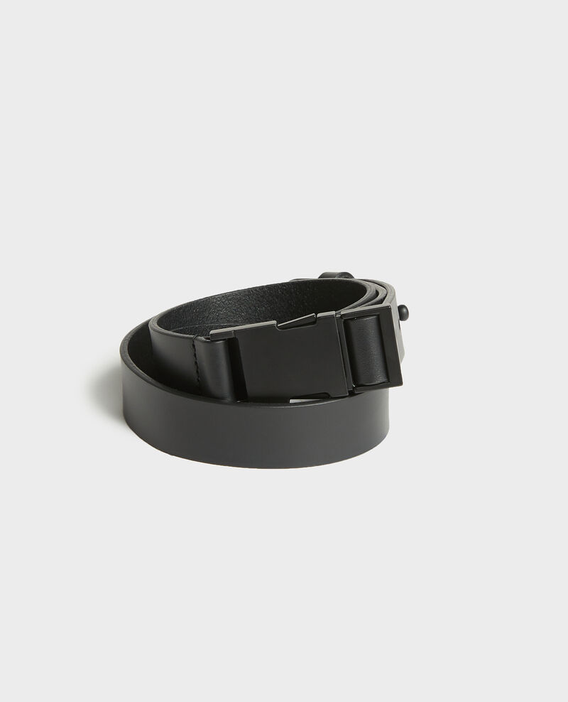 Leather belt Black beauty Lequipe