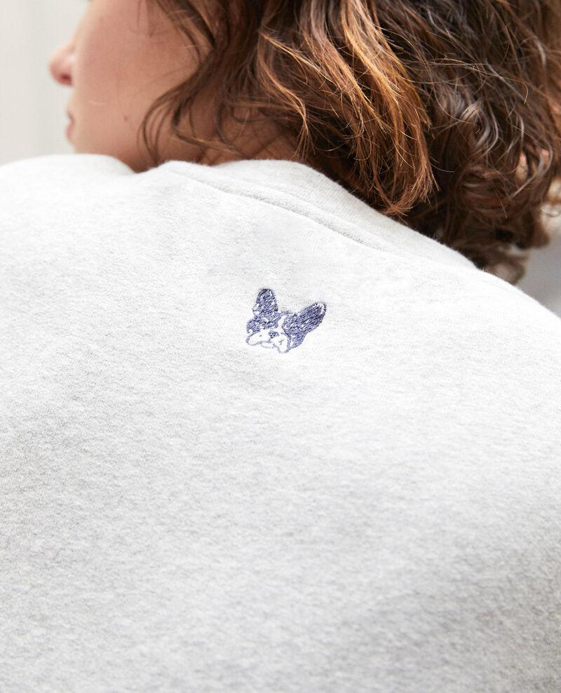 Embroidered Léon sweatshirt Grey Gleon