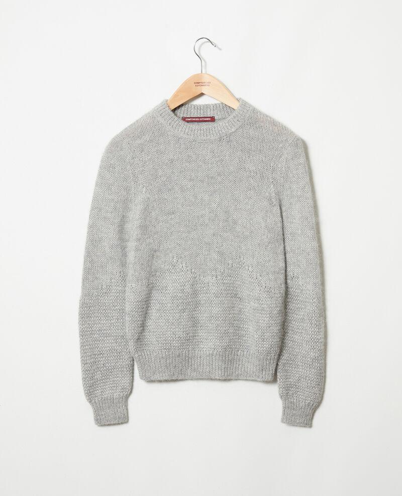 Novelty knit jumper Medium grey Jaheim