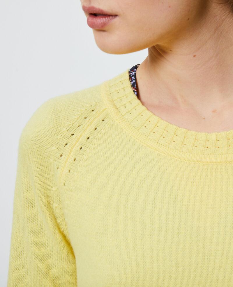 Round-neck cashmere jumper Lemon drop Nogna