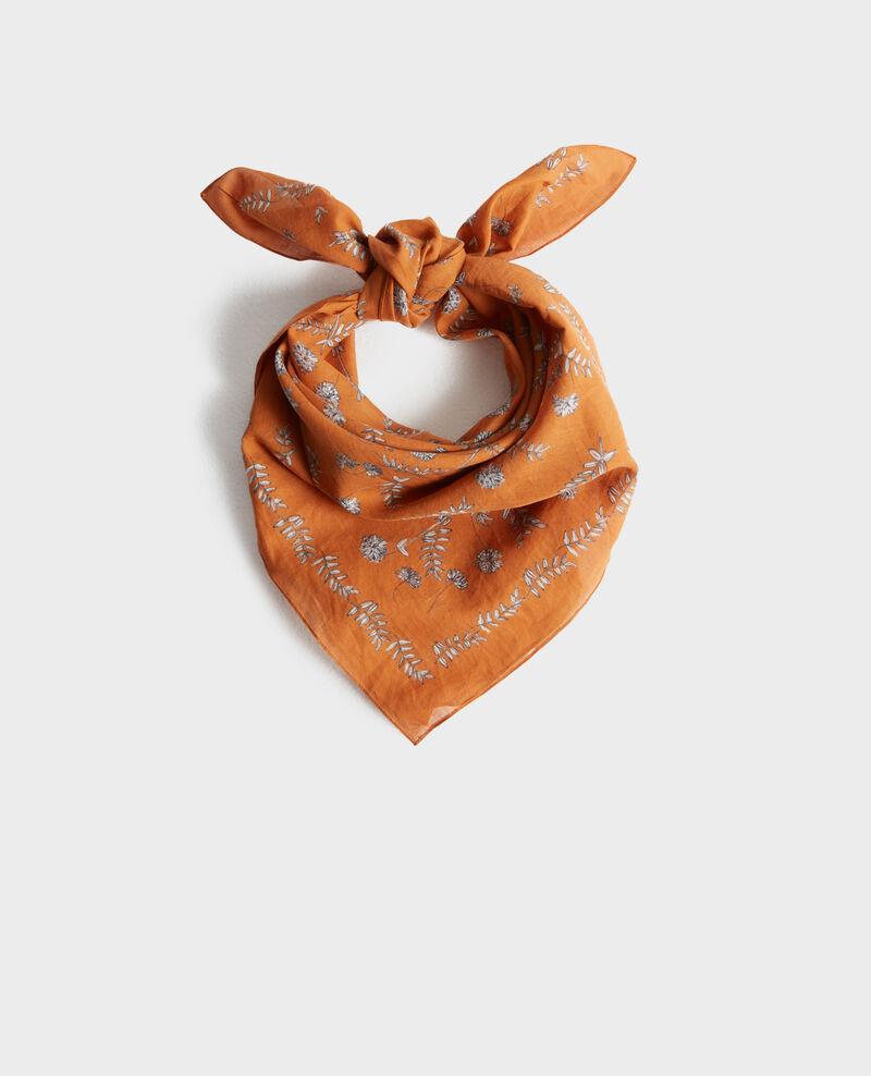 Printed cotton bandana Pumpkin spice Noronille