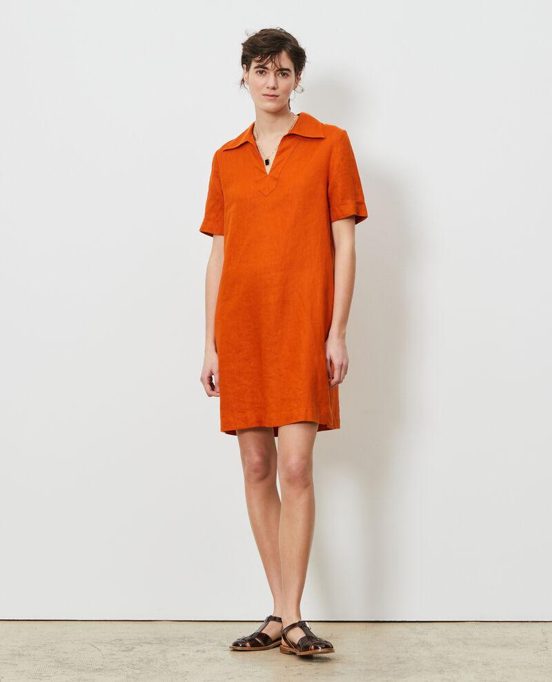 Linen tunic dress Gold flame Noailles