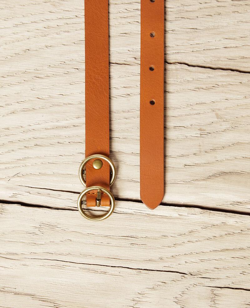 Leather belt Camel Idoubli