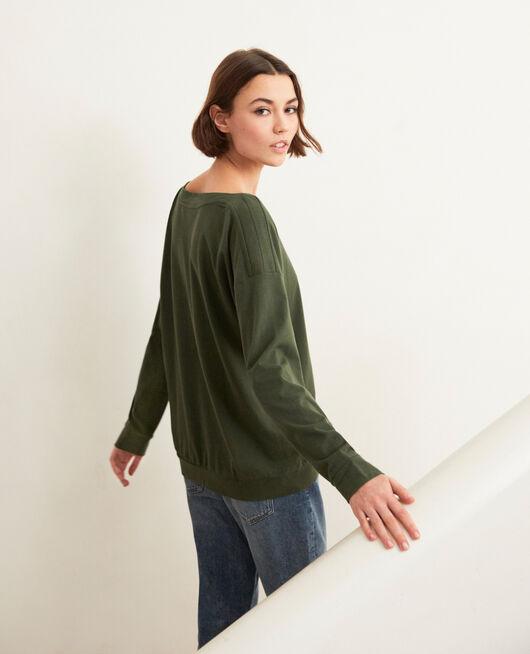 Boatneck sweatshirt Kaki