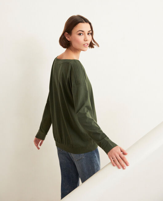 Boatneck sweatshirt CHENG OLIVE