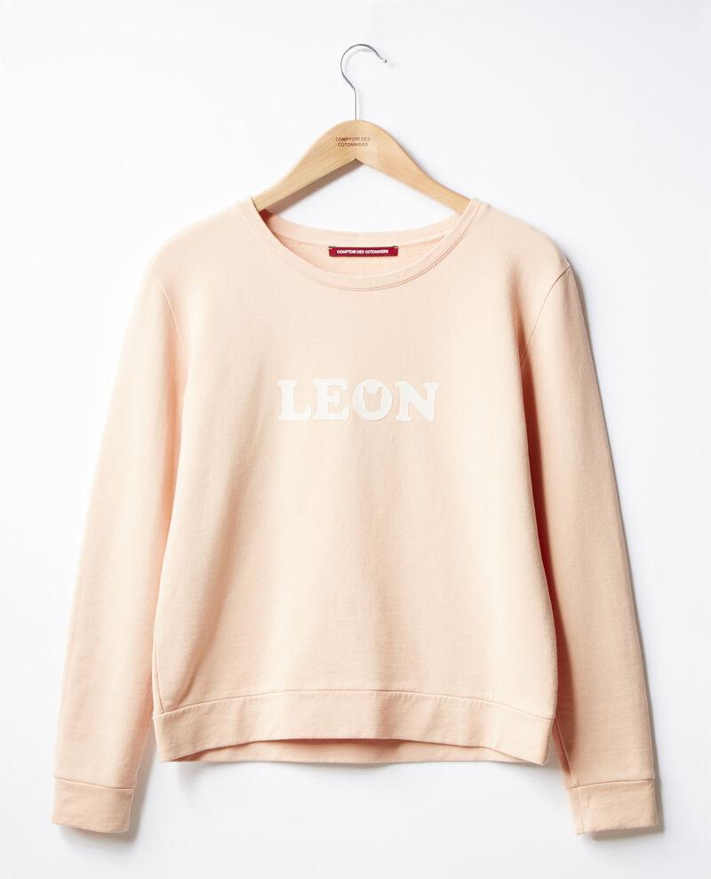 Embroidered Léon sweatshirt Nude Douchoir