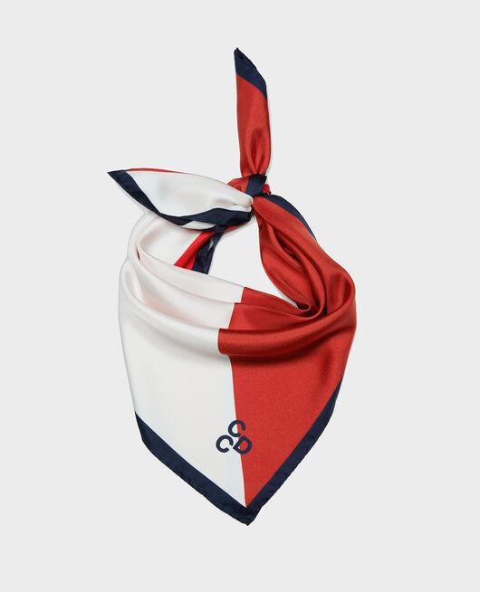 Silk scarf MARITIME BLUE