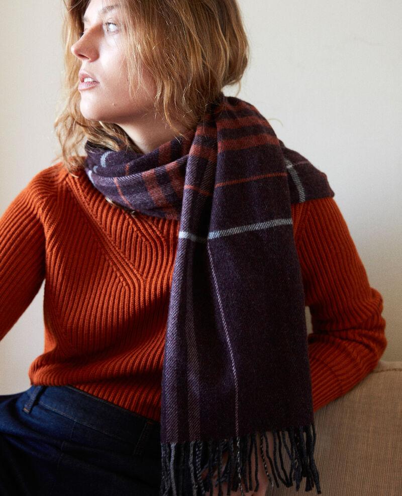 Tartan-print scarf Burgundy Jecossai