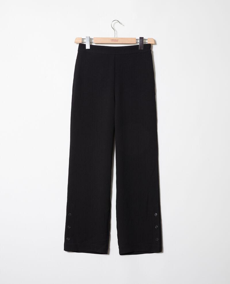 Trousers with button details Noir Jovembre
