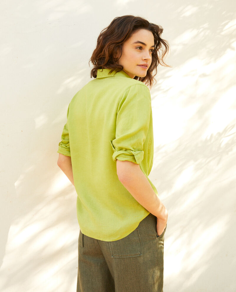 Linen shirt Lime green Igram