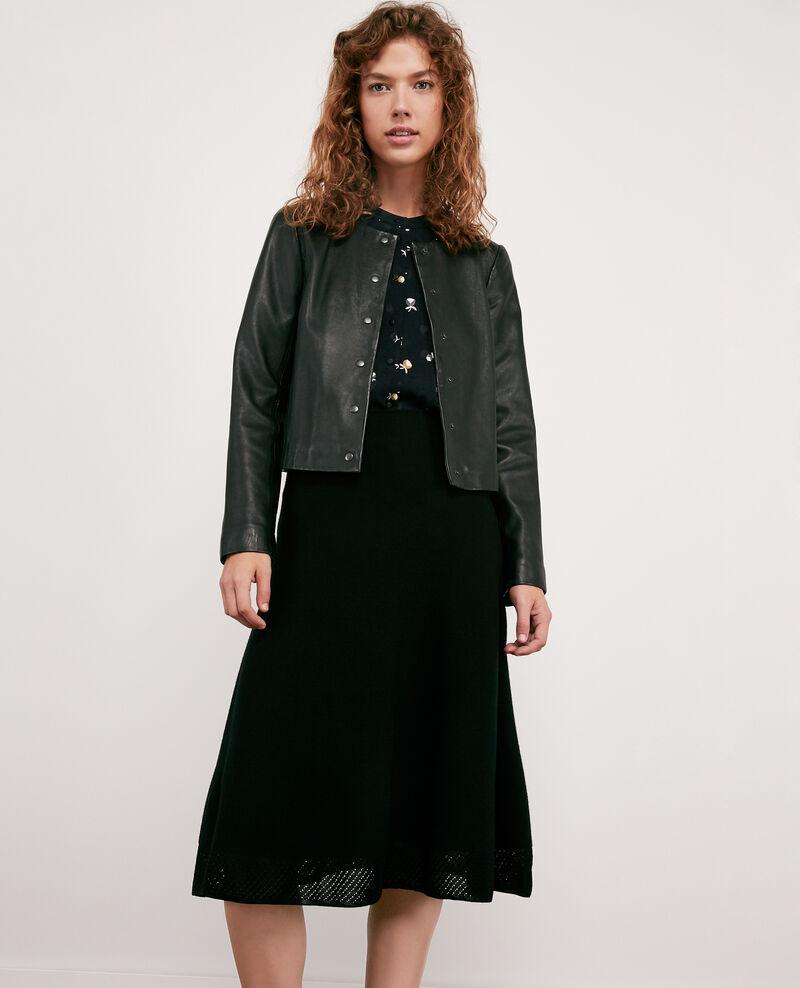 Seam-free 100% wool skirt Noir Dedicasser