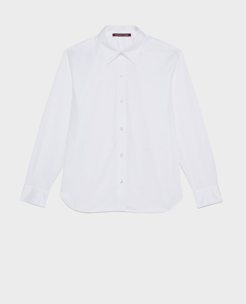 Supima cotton boyfriend shirt Brilliant white Mynde
