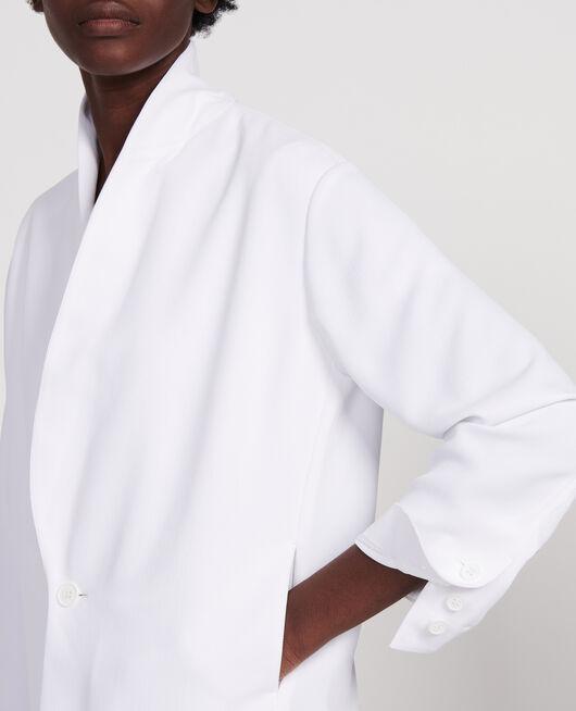 Tuxedo-style jacket OPTICAL WHITE