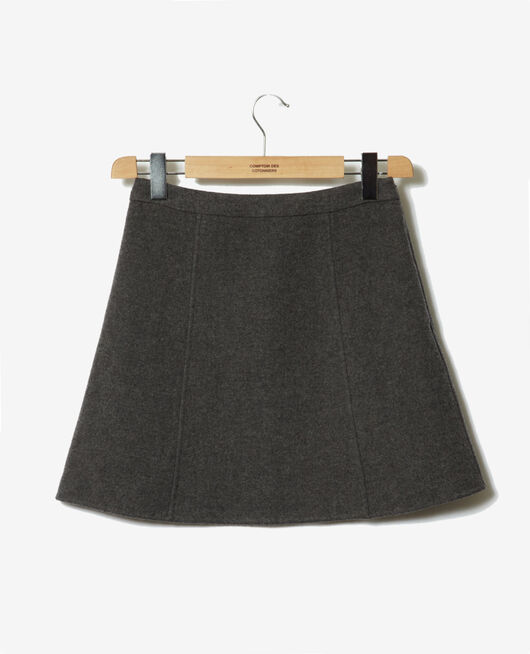 Mini skirt DARK HEATHER GREY