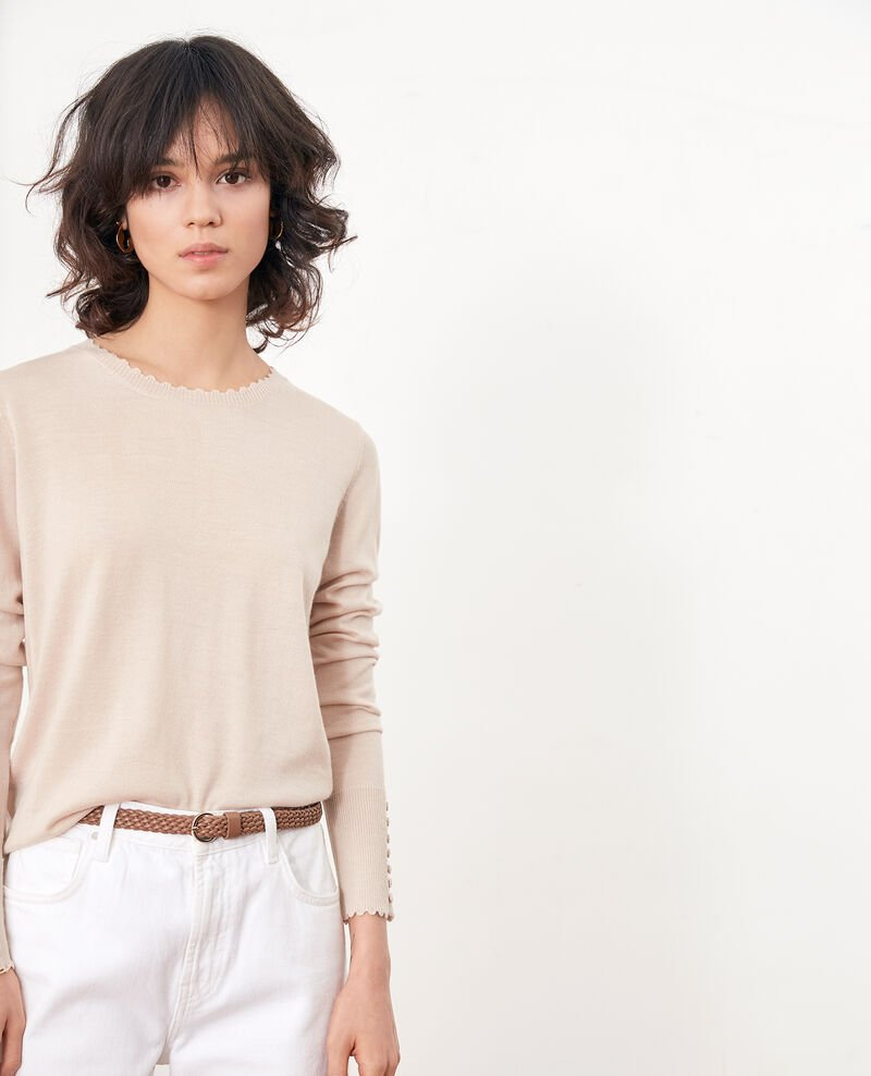 Thin wool jumper Biscuit Fauvea