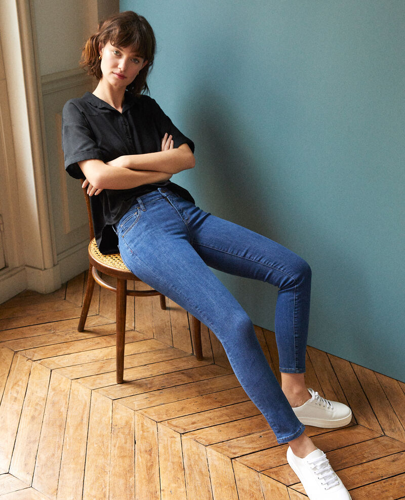 7/8 skinny cropped jeans Blue Ginisko