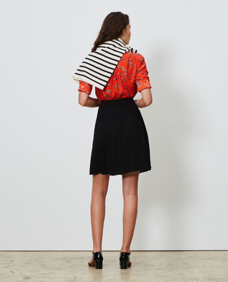Floaty mini skirt Black beauty Nabira