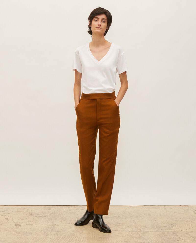 Straight wool boyfriend trousers  Dark navy Lisabelle