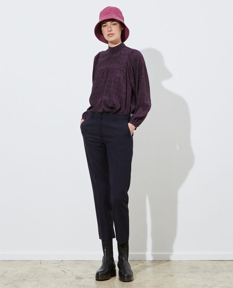MARGUERITE trousers, wool 7/8 cigarette pants Night sky Noko