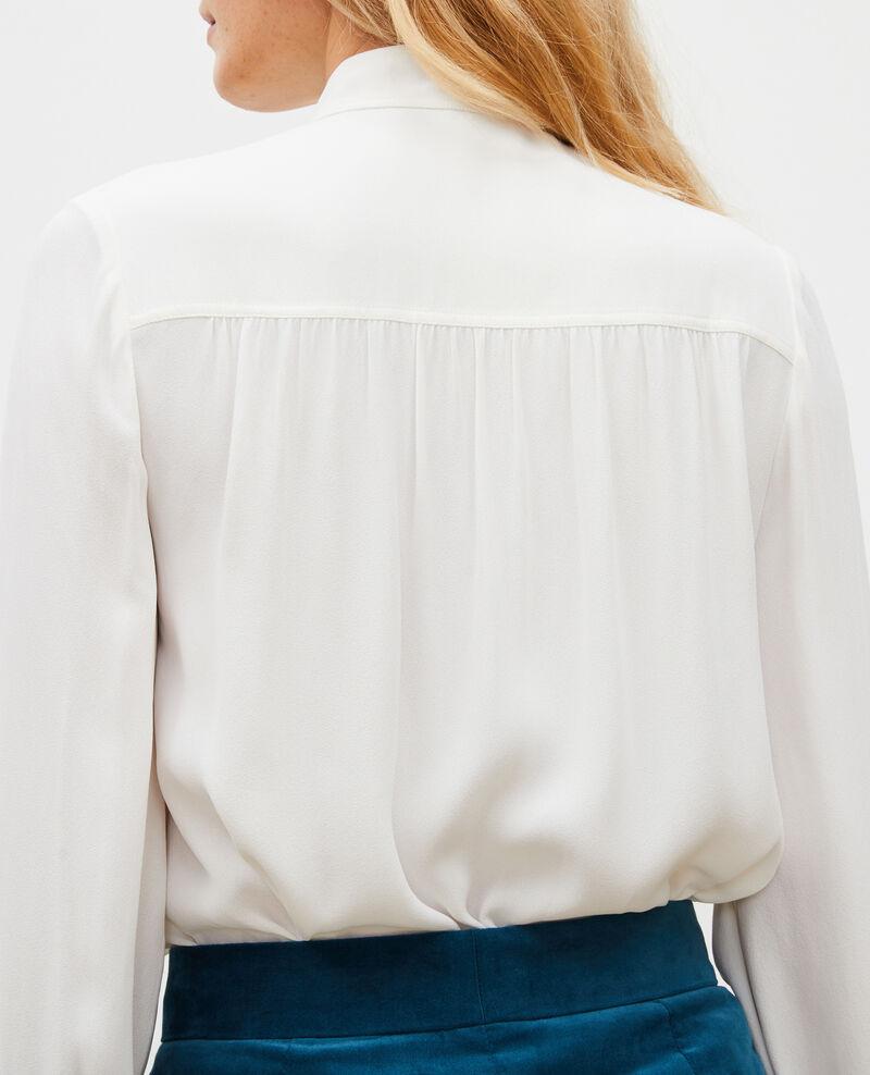 Long-sleeve tie neck shirt  Jet stream Meyrala