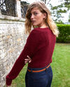 Novelty knit jumper Cabernet Joupy