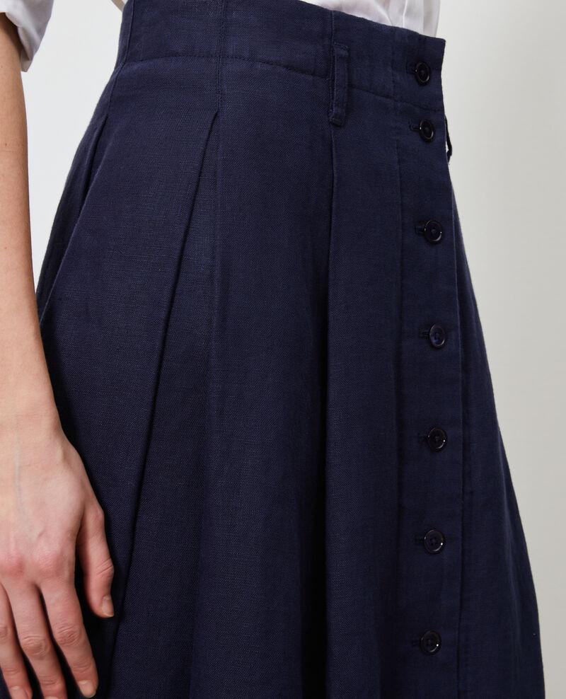 Mid-length skirt Maritime blue Lorlange