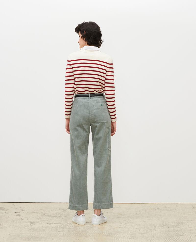 Wide corduroy trousers Chinois green Maora