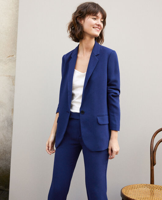 Suit-style jacket MEDIEVAL BLUE