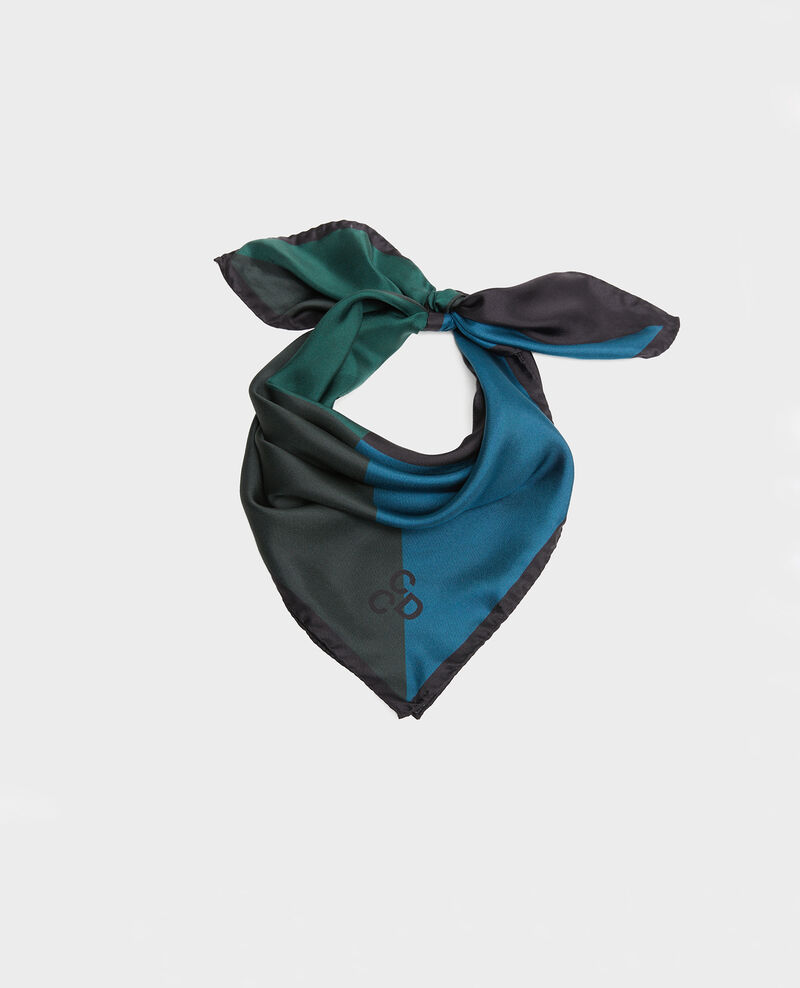 Square scarf in multi-coloured silk Scarab Massana