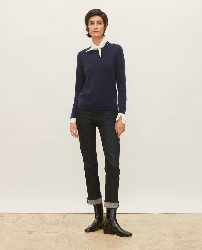 Striped wool jumper Maritime blue Logan