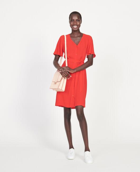 Loose dress FIERY RED