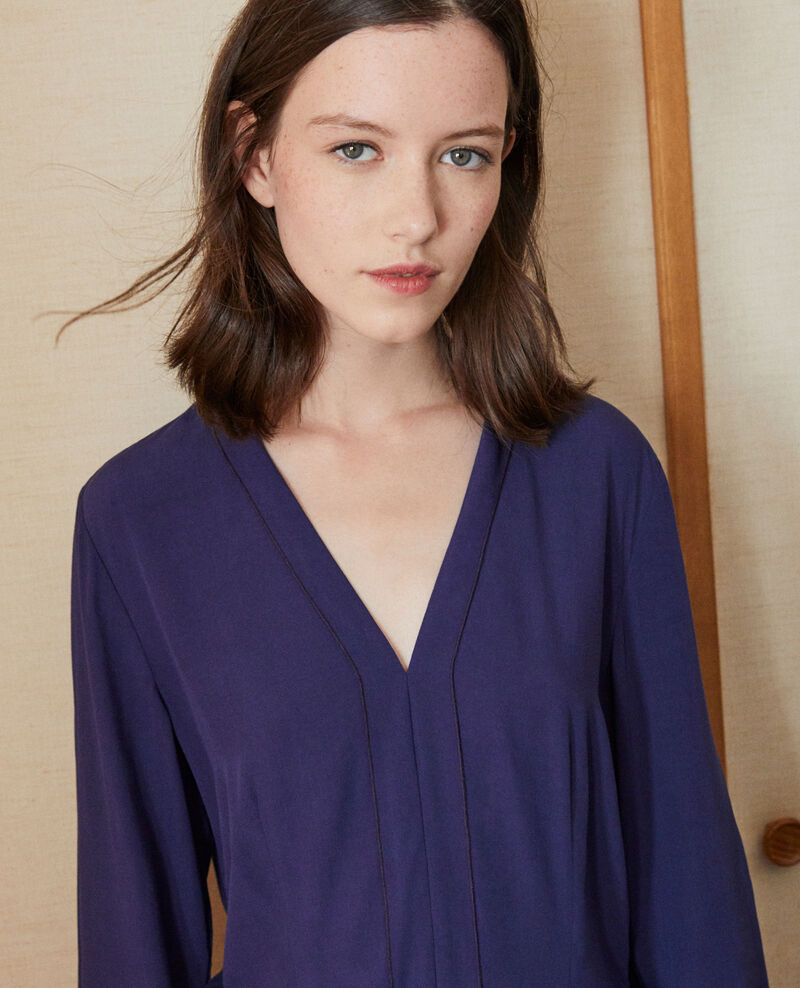 V-neck dress Blue 9ganael