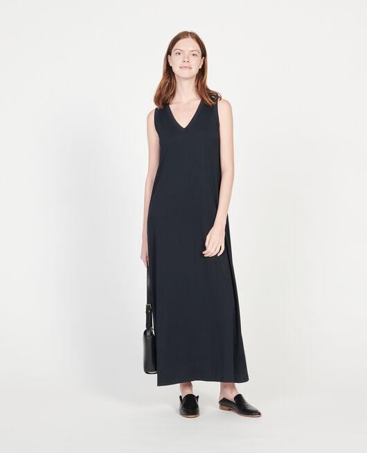 Mercerised cotton maxi dress BLACK BEAUTY