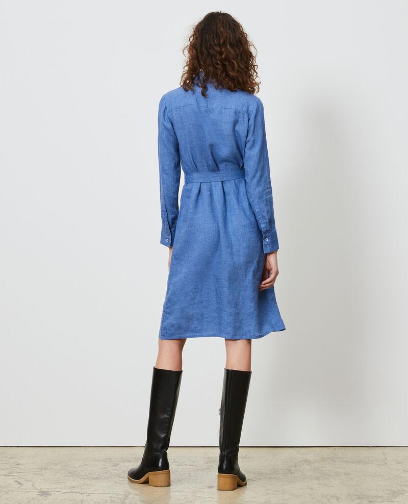 Linen shirt dress Indigo Lesprit