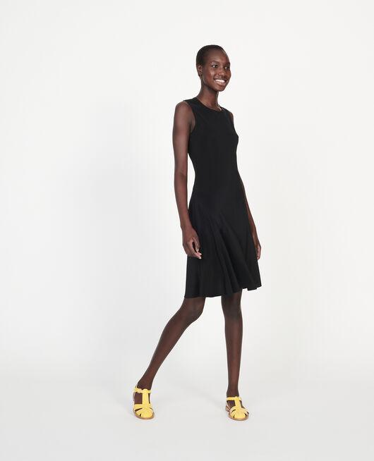 Sleeveless bias-cut silk dress BLACK BEAUTY