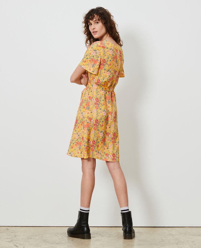 Short printed dress Ete gold small Nauvishort