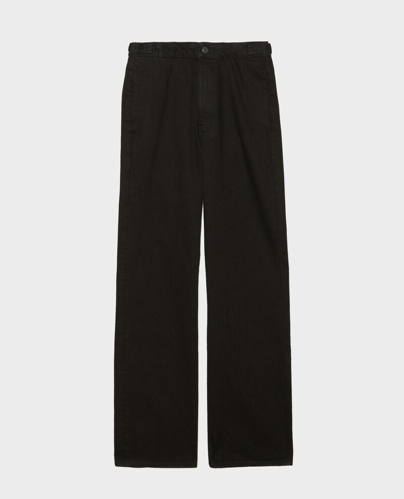 FLARE STRAIGHT - Slim fit black denim trousers Noir denim Mespaul