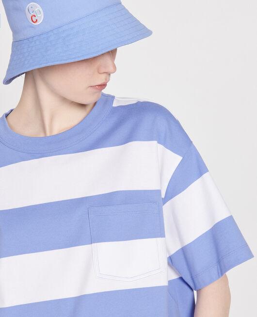 Oversize striped t-shirt STR OPTICALWHITE PERSIANJEWELS