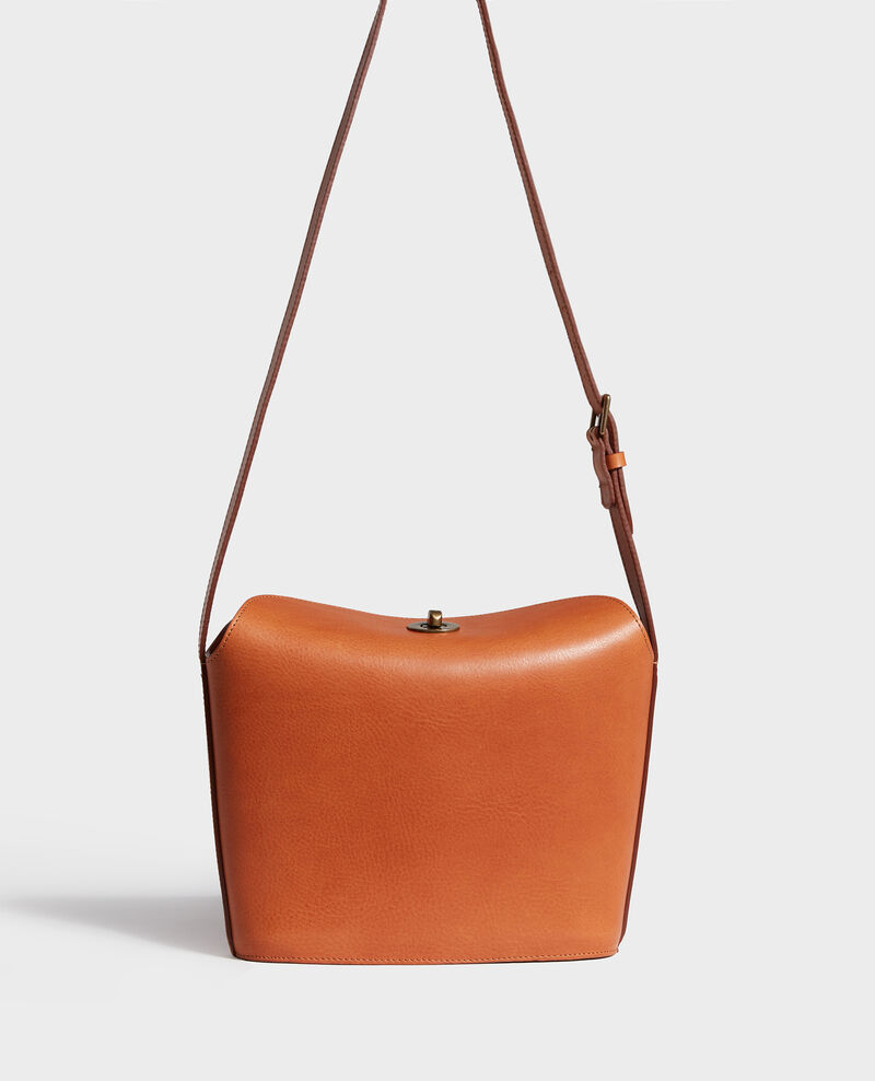 Grained leather bag Camel Lidylle