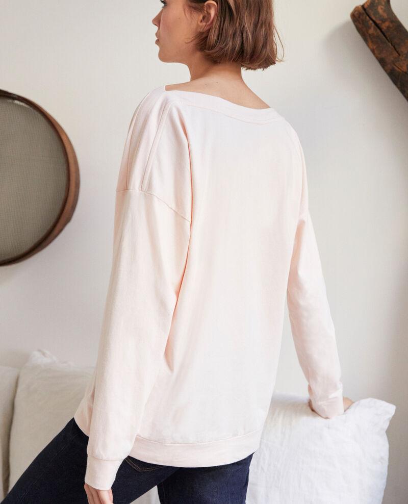 Boatneck sweatshirt Light pink Inkaja